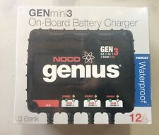 Noco Genius Genmini3 On-Board Battery Charger: 3 Bank 12A @ Waterproof