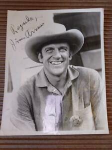 James Arness Signed Autograph Photo Television Actor Gunsmoke Matt Dillon