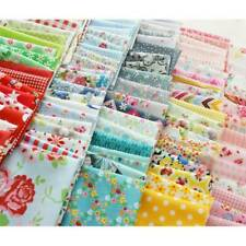 100PC Assorted Fat Quarters Bundle Quilt Quilting Cotton Fabric DIY Sewing Craft