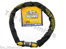 OnGuard Mastiff 8022C Chain Combo Lock Bike Motorcycle Moped fit Kryptonite