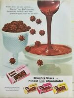 1956 Brach's finest real chocolate Stars milk balls vintage candy ad