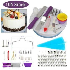 106 x Tortenplatte drehbar Tortenständer Kuchen Drehteller Cake Decorating Set