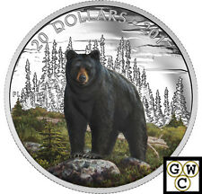 2017 'The Bold Black Bear' Color Proof $20 Silver Coin 1oz .9999 Fine(NT)(17847)