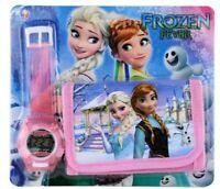 Frozen Children's Digital Watch and Wallet Set For Kids Girls Christmas Gift