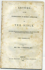 1844 Mobile Alabama Presbyterian minister W T Hamilton @ BIBLE & LITERATURE