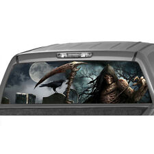 GRIM REAPER Cemetery Rear Window Graphic Tint Decal Sticker Truck Suv Jeep crow