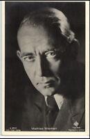 1950/60 Porträt-AK Film Bühne Theater Schauspieler MATHIAS WIEMAN Ufa Foto-Binz