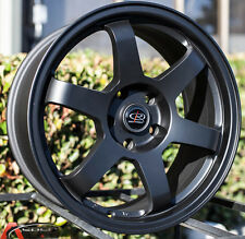 17X8.0 ROTA GRID WHEELS 5X100 RIMS 44MM FLAT BLACK COLOR (SET OF 4 )