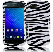 For ZTE Warp Sequent N861 HARD Case Snap on Phone Cover Zebra