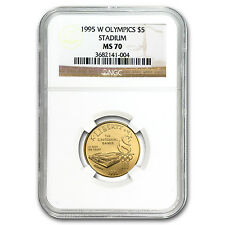 1995-W Olympic Stadium $5 Gold Commemorative Coin - MS-70 NGC - SKU #72509