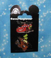 Disney Pin CARS PIXAR  Pins Carded MATER LIGHTNING Mc QUEEN SET