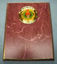 glitter dome Torch trophy plaque 7 x 9 ruby with gold trim