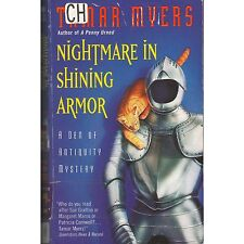 NIGHTMARE IN SHINING ARMOR Tamar Myers PB 2001 1st x-lib Den of Antiquity M2