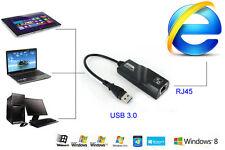 USB 3.0 to 10/100/1000 Gigabit Ethernet RJ45 External Network Card LAN Adapter