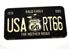 USA Route 66 Bald Eagle Kühlschrankmagnet Magnet Blechschild License Plate Style