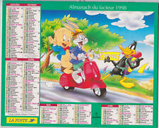 CALENDRIER POSTE 1998 BUGS BUNNY PORKY PIG DONALD DUCK ST TROPEZ SCOOTER VESPA