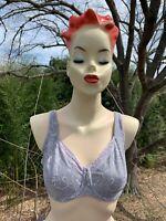 BALI silver Elegance Floral Lace Push Up SEXY BRA Underwire 34 DD 34DD ❤️sj7m1b