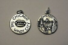 .925 Sterling Silver CHICAGO IL Illinois  The Windy City Travel Charm