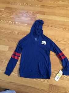 A-Team Apparel New York Giants Girls Long Sleeve Hooded Thermal Shirt