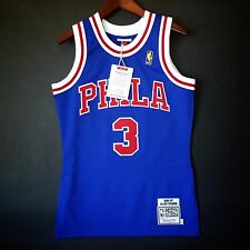 100% Authentic Mitchell & Ness Allen Iverson Sixers blue NBA Jersey Size 36 S