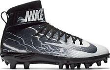 NEW Nike FORCE LUNARBEAST ELITE TD sz 10.5 BLACK WHITE GRAY Football Shoes Cleat