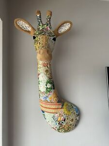 John Lewis Large Decoupage Giraffe Wall Art - Paid £180 - Height 77 X 40cm