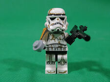Lego Mini Figure SandTrooper 9490 Complete Squad Leader Gold White
