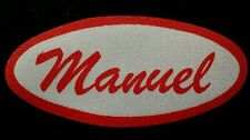 Manuel Vintage 1960s Cursive Name Patch Uniform Shirt Iron On Rare Vhtf Bronx