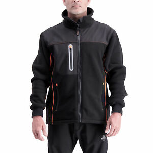 RefrigiWear Men's Insulated PolarForce Hybrid Fleece Jacket with HiVis Piping