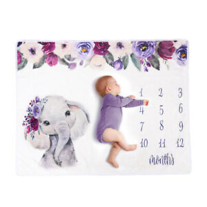 New born Baby Infant Milestone Blanket Mat Photography Photo Prop Monthly Growth