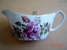 Alfred Meakin Glo White Ironstone Gravy Jug Rose Design