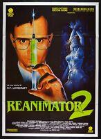 Werbeplakat Reanimator 2 Lovecraft Brian Yuzna Abbott Wuchs Gale Peerce M12