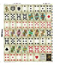 Uncut Sheet of Tikilandia Playing Cards USPCC Card Deck Tiki Bar Art Ku Apes