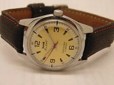 VINTAGE HMT PILOT HAND WINDING GENTS STEEL PARASHOCK 17J WRIST WATCH RUN ORDR 9