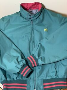 Vintage McDonald's Employee Uniform Jacket 80s Crest Uniform Sz M