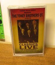 TONEY BROTHERS gospel quartet Classics Live cassette tape NWT 1990s