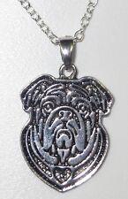 Englisch Bulldog  Hund dog Halskette Kette necklace SJR1-mit Box