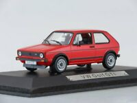 Scale model car 1:43 Volkswagen Golf GTi (red)