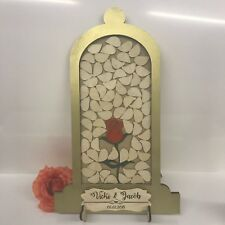 Beauty and the Beast Gold Wedding drop box alternative guest book Dome 72 petals