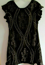 New FREE PEOPLE Black Sparkle Sewn Beaded Lined Dress Womens XS Retail $168