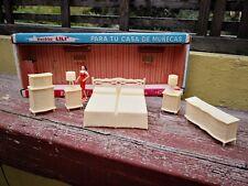 VTG RARE & UNIQUE MEXICAN LILI LEDY BEDROOM SET NEW IN OB DOLLHOUSE FURNITURE