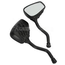 Pair Custom Black Skeleton Skull Hand Claw Motorcycle Rearview Mirrors 8MM10MM