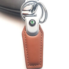 SKODA LEATHER KEYRING KEYCHAIN SUPERB Quality Octavia, Fabia, Superb, Karoq
