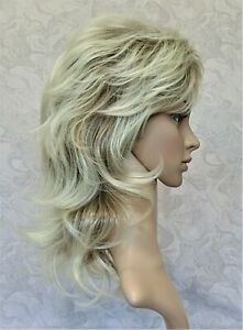 Long Soft Fluffy Shag Dark Roots to Blonde Heat Resistant Synthetic Wig - 138