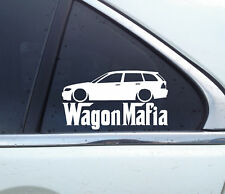 Lowered WAGON MAFIA sticker - for BMW E46 Touring 3-series (FACELIFT)