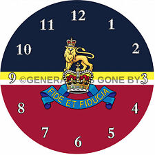 ROYAL ARMY PAY CORPS GLASS WALL CLOCK