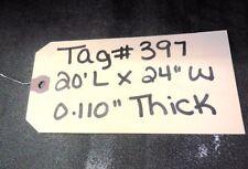 "Unknown Brand Conveyor Belt, Black Pvc, 20' Length, 24"" Width, 0.110"" Thickness"