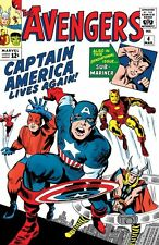 Couverture Avengers 4 Cover Captain America Jack Kirby  NEUF-NEW-NEU.