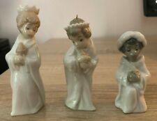 "Lladro Porcelain Mini Figurines ""Three Kings Nativity Set"" - Mint Condition"