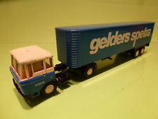 LION CAR 36 36 DAF 2600 TRUCK + TRAILER - GELDERS SPECTRA 1:50 - VERY GOOD
